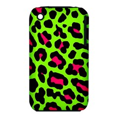 Neon Green Leopard Print Iphone 3s/3gs by allthingseveryone