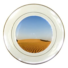Desert Dunes With Blue Sky Porcelain Plates by Ucco