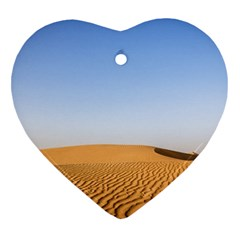 Desert Dunes With Blue Sky Heart Ornament (two Sides) by Ucco
