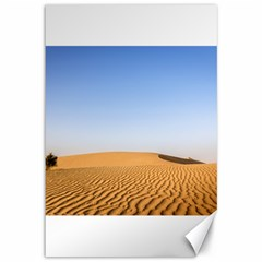 Desert Dunes With Blue Sky Canvas 12  X 18   by Ucco