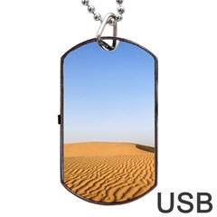 Desert Dunes With Blue Sky Dog Tag Usb Flash (one Side) by Ucco