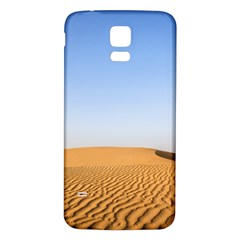 Desert Dunes With Blue Sky Samsung Galaxy S5 Back Case (white) by Ucco
