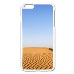 Desert Dunes With Blue Sky Apple Iphone 6 Plus/6s Plus Enamel White Case by Ucco