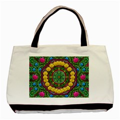 Bohemian Chic In Fantasy Style Basic Tote Bag (two Sides) by pepitasart