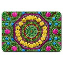 Bohemian Chic In Fantasy Style Large Doormat  by pepitasart