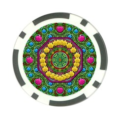 Bohemian Chic In Fantasy Style Poker Chip Card Guard by pepitasart
