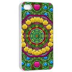 Bohemian Chic In Fantasy Style Apple Iphone 4/4s Seamless Case (white) by pepitasart