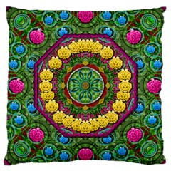 Bohemian Chic In Fantasy Style Large Cushion Case (one Side) by pepitasart