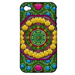 Bohemian Chic In Fantasy Style Apple Iphone 4/4s Hardshell Case (pc+silicone) by pepitasart