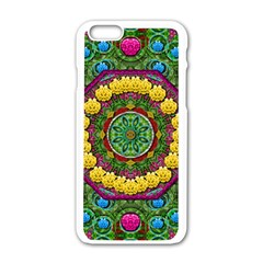 Bohemian Chic In Fantasy Style Apple Iphone 6/6s White Enamel Case by pepitasart