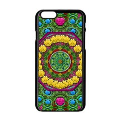 Bohemian Chic In Fantasy Style Apple Iphone 6/6s Black Enamel Case by pepitasart