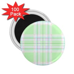 Green Pastel Plaid 2 25  Magnets (100 Pack)  by allthingseveryone