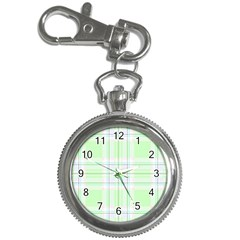 Green Pastel Plaid Key Chain Watches by allthingseveryone