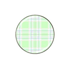 Green Pastel Plaid Hat Clip Ball Marker