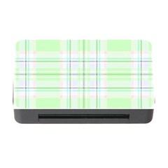 Green Pastel Plaid Memory Card Reader With Cf by allthingseveryone