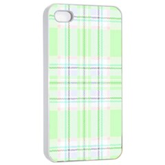 Green Pastel Plaid Apple Iphone 4/4s Seamless Case (white) by AllThingsEveryone