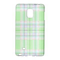 Green Pastel Plaid Galaxy Note Edge by allthingseveryone
