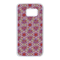 Star And Crystal Shapes 01 Samsung Galaxy S7 White Seamless Case by Cveti