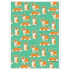 Corgi Dog Wrap Drawstring Bag (large) by Celenk