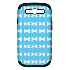 Dog Bone Background Dog Bone Pet Samsung Galaxy S Iii Hardshell Case (pc+silicone)