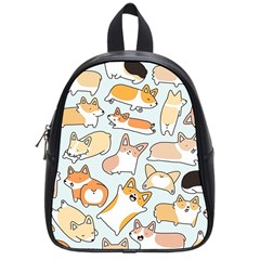 Corgilicious Corgi Doodle Art School Bag (small) by Celenk