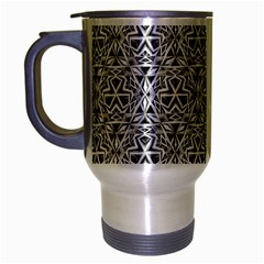 Hand Drawing Tribal Black White Travel Mug (silver Gray) by Cveti