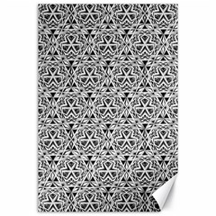 Hand Drawing Tribal Black White Canvas 24  X 36  by Cveti
