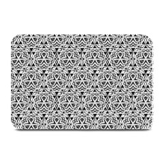 Hand Drawing Tribal Black White Plate Mats by Cveti