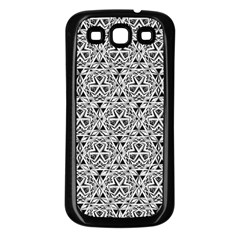Hand Drawing Tribal Black White Samsung Galaxy S3 Back Case (black) by Cveti