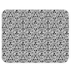 Hand Drawing Tribal Black White Double Sided Flano Blanket (medium)  by Cveti