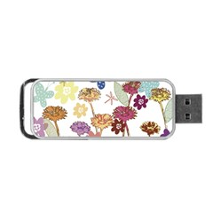 Flowers Butterflies Dragonflies Portable Usb Flash (one Side) by Celenk
