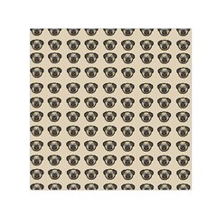 Puppy Dog Pug Pup Graphic Small Satin Scarf (square) by Celenk