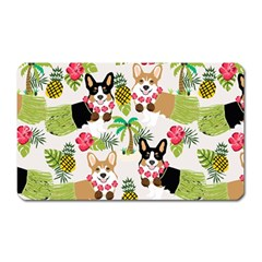 Hula Corgis Fabric Magnet (rectangular) by Celenk