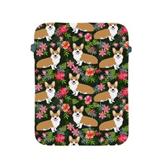 Welsh Corgi Hawaiian Pattern Florals Tropical Summer Dog Apple Ipad 2/3/4 Protective Soft Cases by Celenk