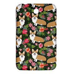 Welsh Corgi Hawaiian Pattern Florals Tropical Summer Dog Samsung Galaxy Tab 3 (7 ) P3200 Hardshell Case  by Celenk