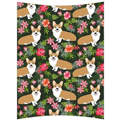 Welsh Corgi Hawaiian Pattern Florals Tropical Summer Dog Back Support Cushion by Celenk