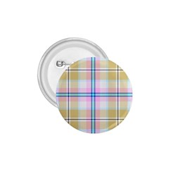 Pink And Yellow Plaid 1 75  Buttons by allthingseveryone