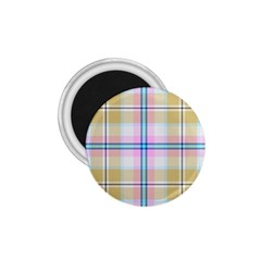 Pink And Yellow Plaid 1 75  Magnets by allthingseveryone
