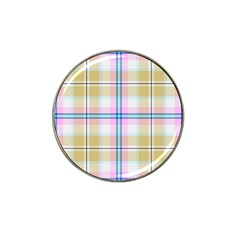 Pink And Yellow Plaid Hat Clip Ball Marker (10 Pack) by allthingseveryone