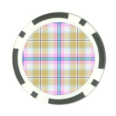 Pink And Yellow Plaid Poker Chip Card Guard (10 Pack) by allthingseveryone
