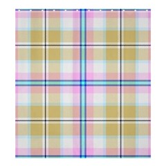 Pink And Yellow Plaid Shower Curtain 66  X 72  (large)  by allthingseveryone