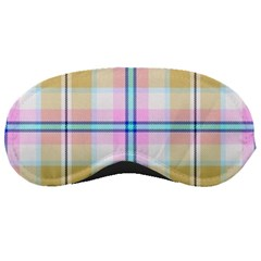 Pink And Yellow Plaid Sleeping Masks by allthingseveryone