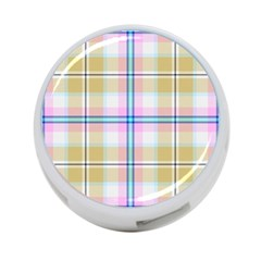 Pink And Yellow Plaid 4 Port Usb Hub (one Side) by allthingseveryone