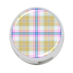 Pink And Yellow Plaid 4 Port Usb Hub (two Sides)  by allthingseveryone