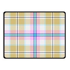 Pink And Yellow Plaid Fleece Blanket (small) by allthingseveryone