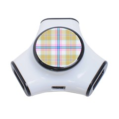 Pink And Yellow Plaid 3 Port Usb Hub by allthingseveryone