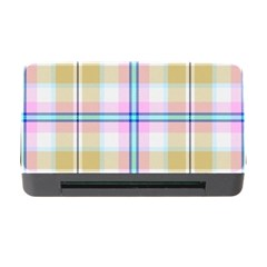 Pink And Yellow Plaid Memory Card Reader With Cf by allthingseveryone