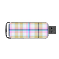 Pink And Yellow Plaid Portable Usb Flash (two Sides) by allthingseveryone