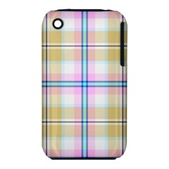 Pink And Yellow Plaid Iphone 3s/3gs by allthingseveryone