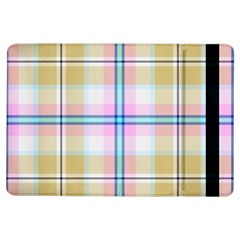 Pink And Yellow Plaid Ipad Air Flip by allthingseveryone